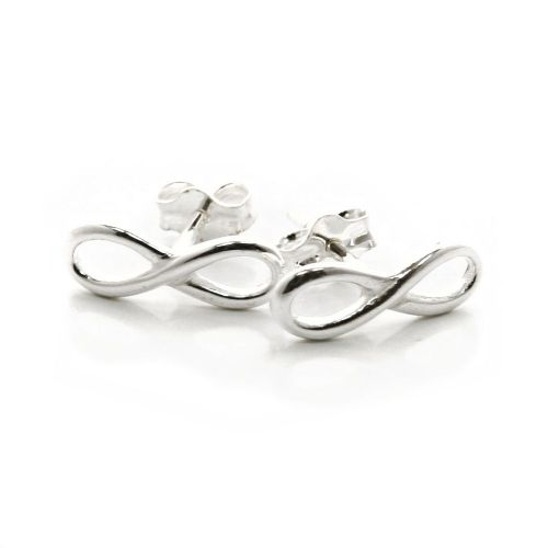 Infinity Lemniscate Ouroboros Sterling Silver Stud Earrings (E007)